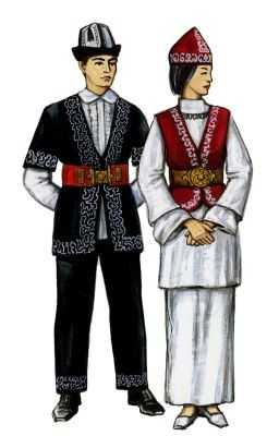 Традиционные костюмы казахов