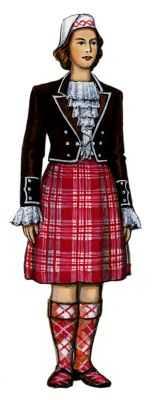 Шотландский национальный костюм женский