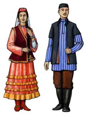 Картина, панно, рисунок Квиллинг: Эрзянский национальный костюм Бумага Дебют.